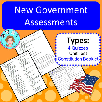 America's New Government Bundle – Upper Elementary – No Prep, Print & Go Unit