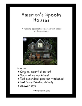 America's Spooky Houses - A Reading and Writing Activity Set