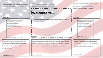 America the 50 States Project Presentation Power Point