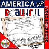 America the Beautiful - 1 verse (Picture Song Book)