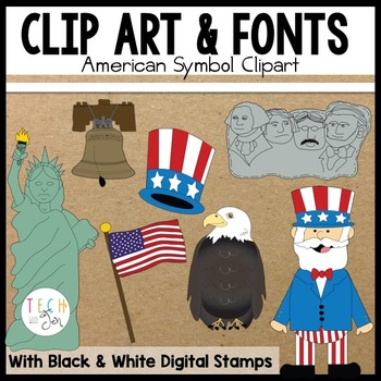 America the Beautiful Digital Clipart and Graphics
