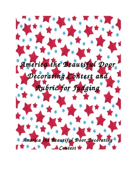 America the Beautiful Door Decorating Contest and Judges Rubric