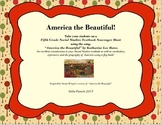 America the Beautiful Flip Book and Social Studies Textbook Scavenger Hunt