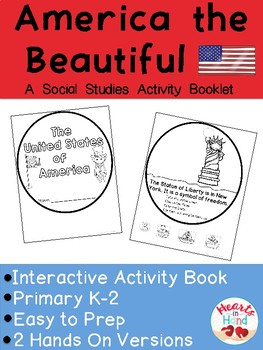 America the Beautiful Interactive Activity Booklet (K-2)