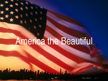 America the Beautiful Sing-Along with ELL Vocabulary