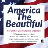America, the Beautiful for Orff or Boomwhackers