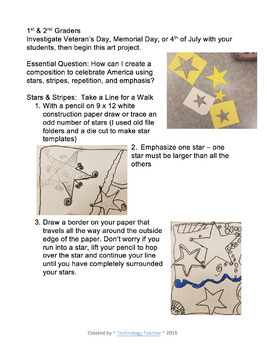 America the Great: Art Projects for Veteran's Day, Memorial Day, 4th of July
