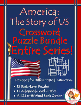 America the Story of US Crossword Puzzle BUNDLE: ENTIRE SERIES Episodes 1-12