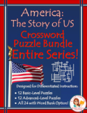 America the Story of US ENTIRE SERIES Crossword BUNDLE: Episodes 1-12