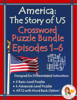 America the Story of US Crossword Puzzle BUNDLE: Episodes 1-6