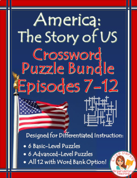 America the Story of US Crossword Puzzle BUNDLE: Episodes 7-12