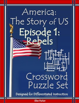America the Story of US Episode 1 Crossword Puzzle Worksheets