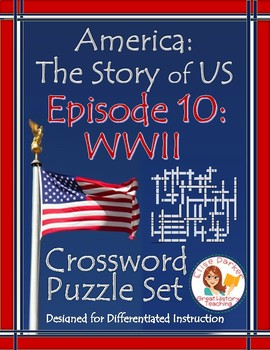 America the Story of US Episode 10 Crossword Puzzle Worksheets