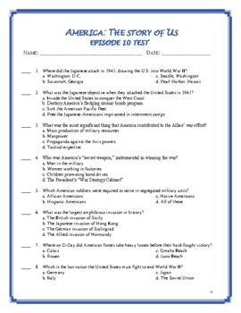 America the Story of US Episode 10 Quiz and Worksheet