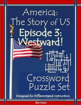 America the Story of US Episode 3 Crossword Puzzle Worksheets