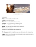 America the Story of US: Episode 5: Civil War Video Guide Answers