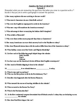 America the Story of US Movie Question Sheets