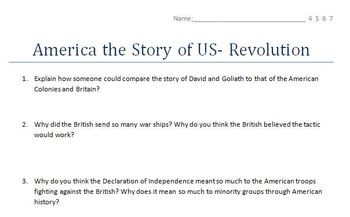America the Story of US- Video Worksheets