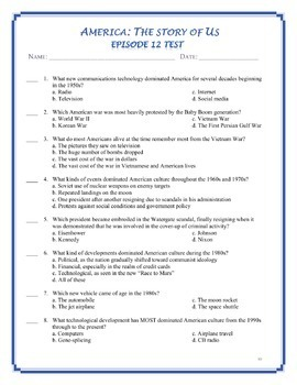 America the Story of US Worksheets and Quizzes: 1-12 BUNDLE -- ENTIRE SERIES