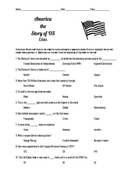America the Story of Us: Cities Episode 7 Questions