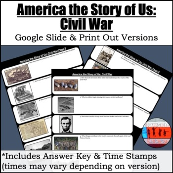 America The Story Of Us Civil War By Howsonhistory Tpt