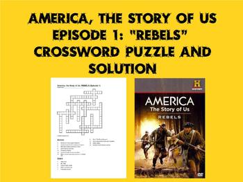 """America, the Story of Us Episode 1 """"Rebels"""" Crossword and Solution"""