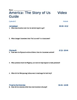 America The Story Of Us Episode 1 Rebels Viewing Guide By The