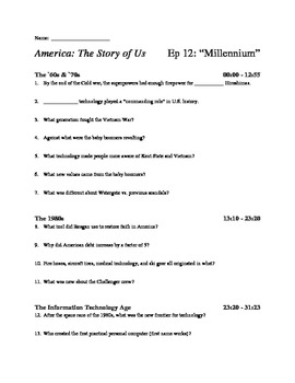 america the story of us episode 12 millennium viewing guide. Black Bedroom Furniture Sets. Home Design Ideas