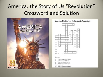 "America, the Story of Us Episode 2 ""Revolution"" Crossword"