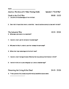 American The Story Of Us Worksheets  america the story of us