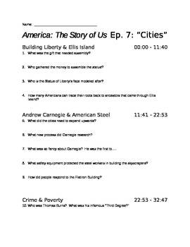 america the story of us episode 7 cities viewing guide by the chronicler. Black Bedroom Furniture Sets. Home Design Ideas