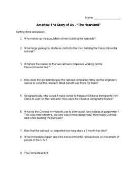 America the Story of Us Guided Note Sheet & Quiz