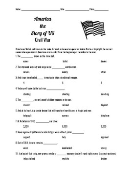 America The Story Of Us Civil War Teaching Resources Teachers Pay
