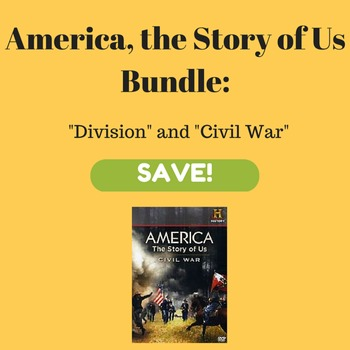 America, the Story of Us Worksheet Activities for Division and Civil War