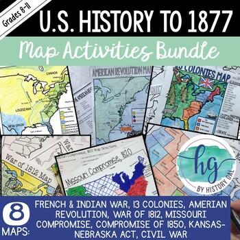 American 1 Map Activities Bundle