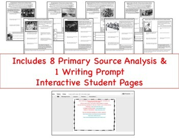 American 1920s Primary Source Analysis Google Drive Interactive Lesson