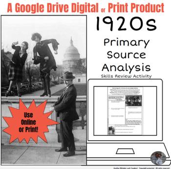 American 1920s Primary Source Analysis Google Drive Intera