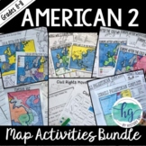American 2 Map Activities Bundle (Print and Digital)