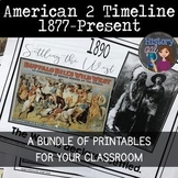 American 2 Printable Timeline Bundle (1877-Present)