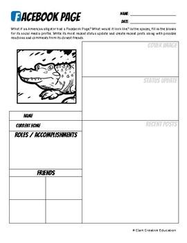 American Alligator -- 10 Resources -- Coloring Pages, Reading & Activities