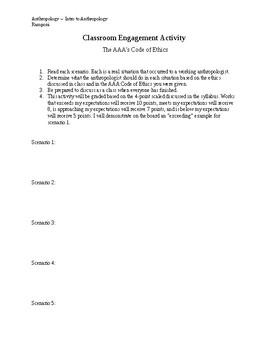 American Anthropological Association Ethics/Case Studies