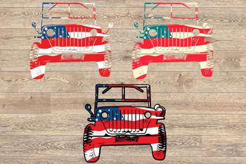 American Army jeep military July 4th Memorial Day fourth of july 82SV