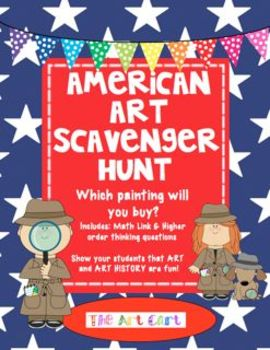 American Art Scavenger Hunt - Which Painting Will You Buy?  Art History is fun!