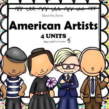 American Artists - Rockwell O'Keeffe Pollock - Mini Unit Artist Printiables