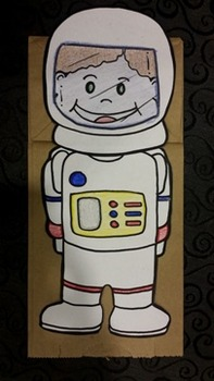 American Astronaut Paper bag puppet