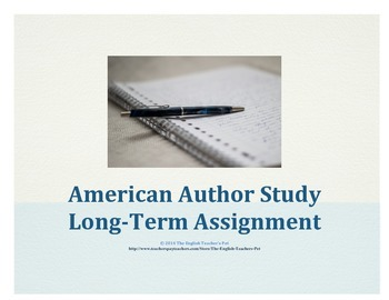 American Author Long-Term Assignment and Grading Rubric