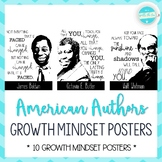American Authors Growth Mindset Posters