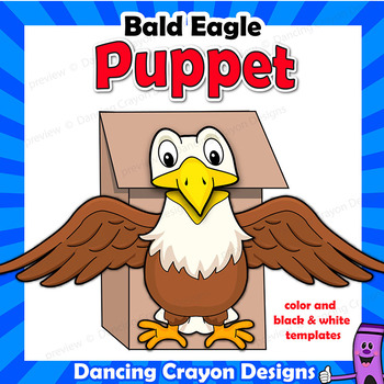american bald eagle craft activity paper bag puppet template tpt