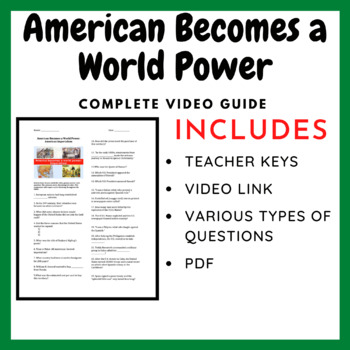 American Becomes a World Power: Imperialism Video Guide