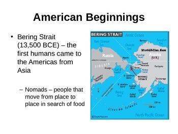 American Beginnings (U.S. History) Powerpoint Notes